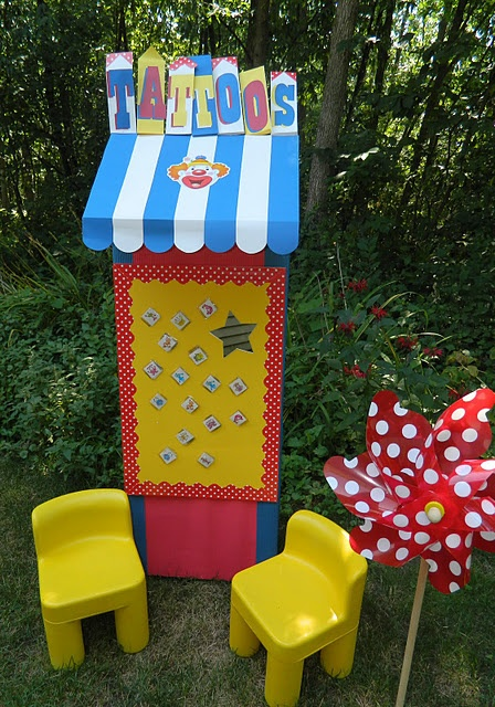 application booth for tattoos for kids birthdays