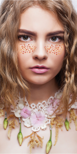 New Metallic Freckle Face Temporary Tattoos