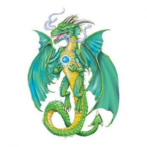 Smokin' Green Dragon temporary tattoo