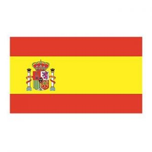 flag of Spain temporary tattoo