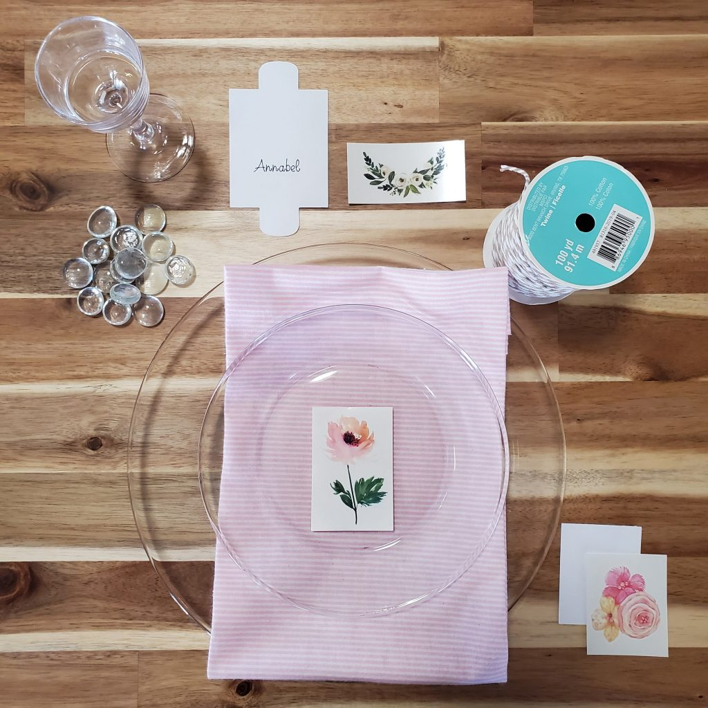 table setting crafting with tattoos