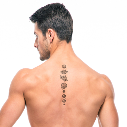 planets tattoo designs for men on the back