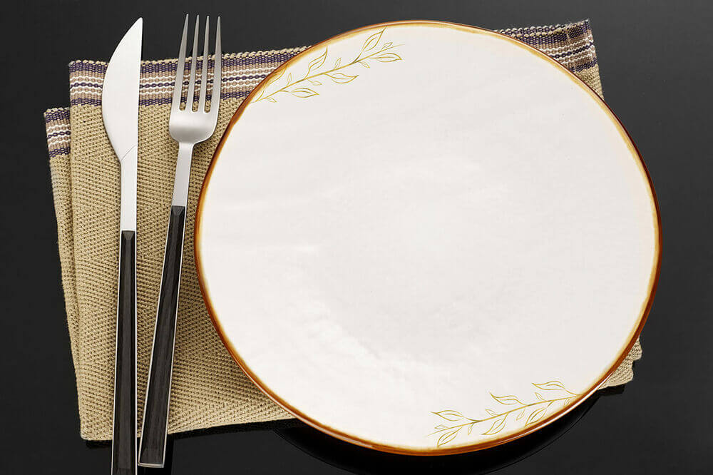 temporary tattoos used as decoration on plates